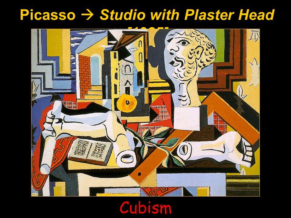Picasso  Studio with Plaster Head [1925]